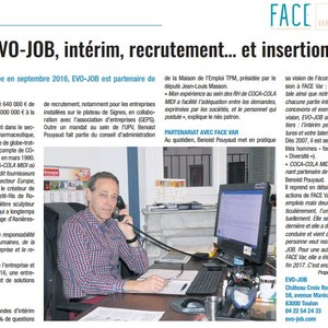 Article EVO-JOB dans la Gazette du Var